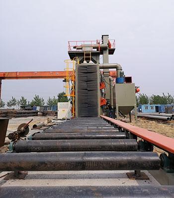 加高型钢结构抛丸机